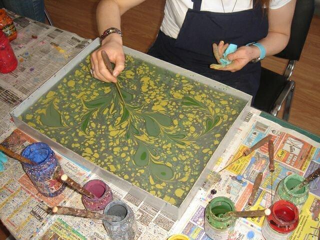 Рисовать по воде красками в домашних условиях 127