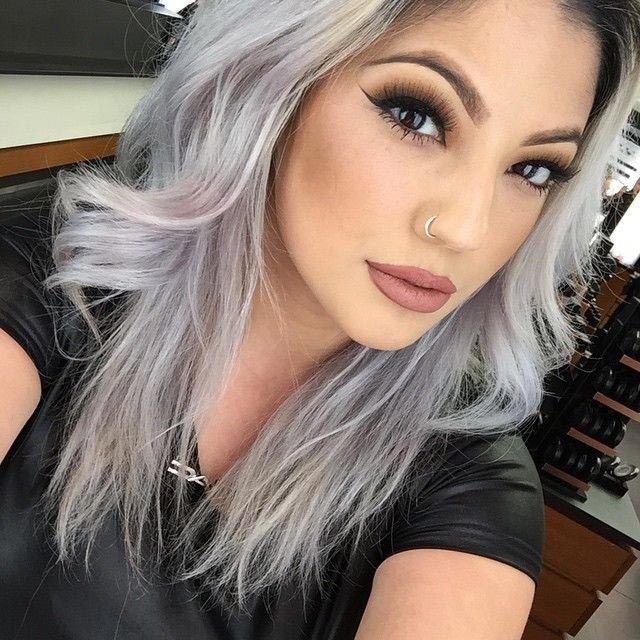 Как сделать серые волосы
